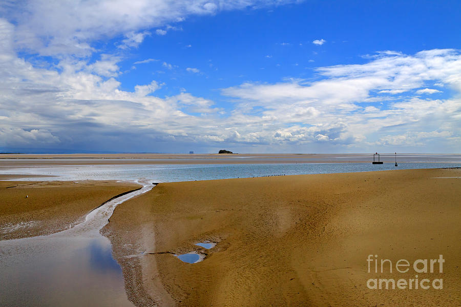 Sands Photograph - Morecambe Bay Cumbria by Louise Heusinkveld