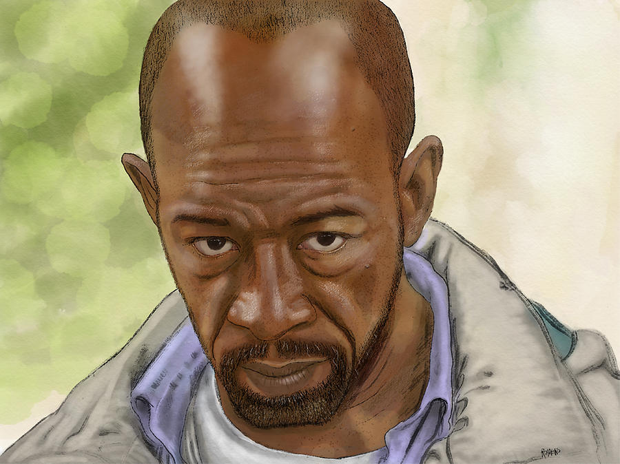 Digital Painting Digital Art - Morgan by Antonio Romero
