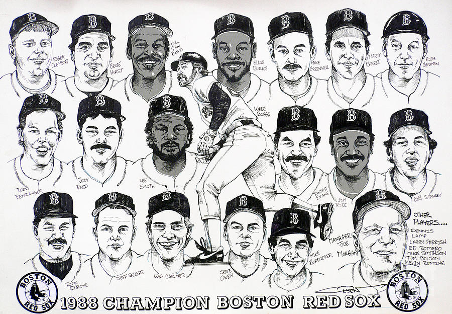 Boston Drawing - Morgan Magic And The East Championship Newspaper Poster by Dave Olsen