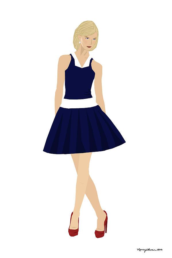 Fashion Digital Art - Morgan by Nancy Levan
