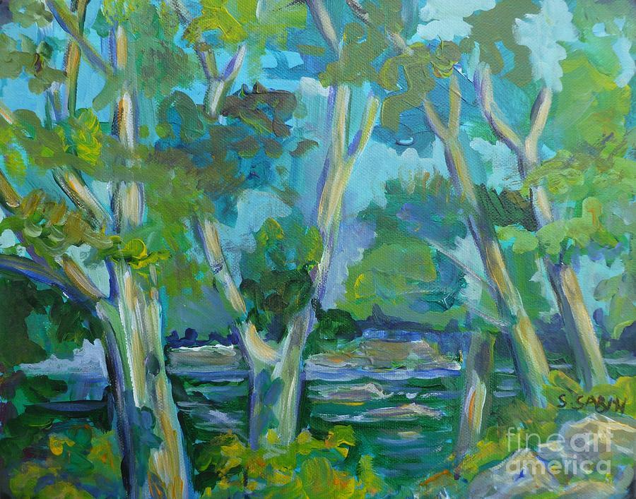 Moira Painting - Moria River At Belleville by Saga Sabin