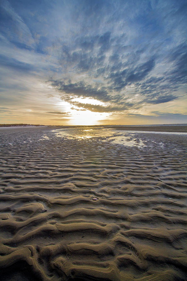 Moriches Bay Sand Patterns by Robert Seifert