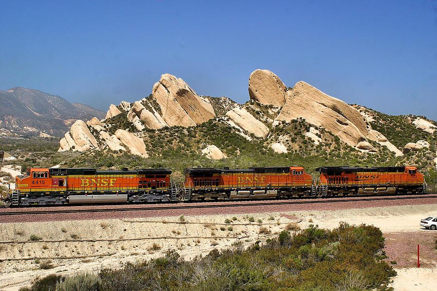 Desert Photograph - Mormon Rocks California by Bill Mollet
