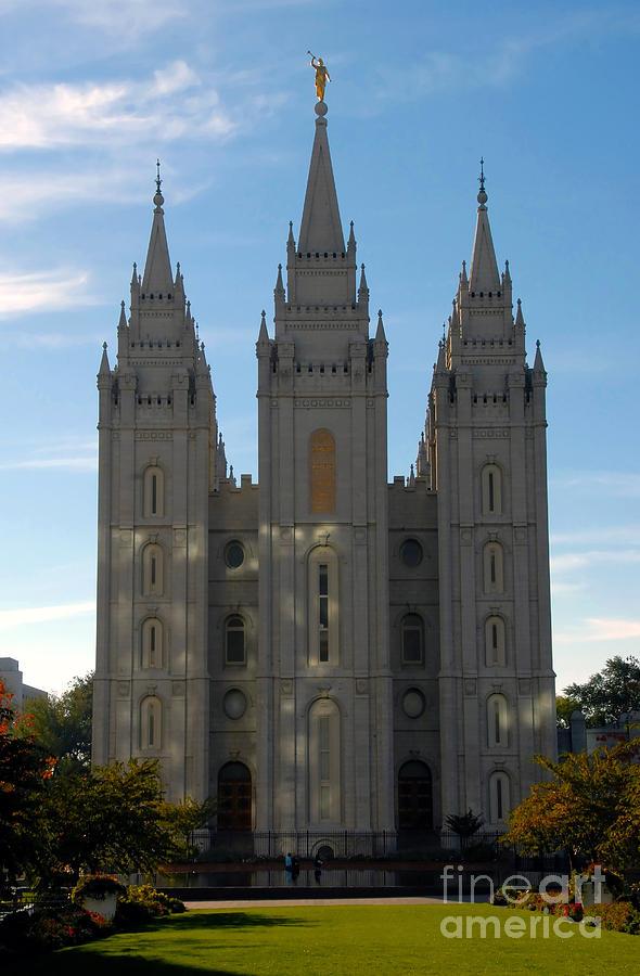 Mormon Photograph - Mormon Temple Fall by David Lee Thompson