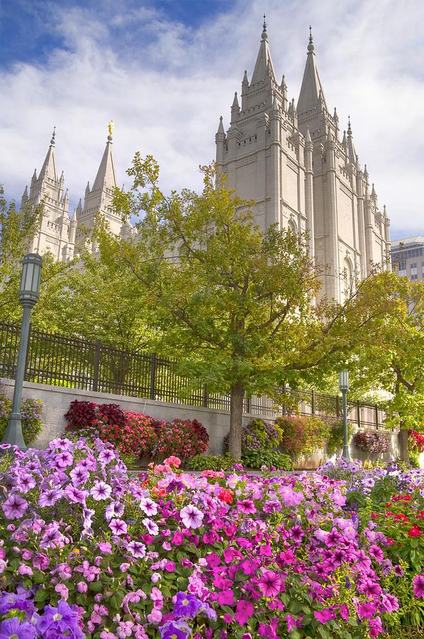 Mormon Photograph - Mormon Temple Salt Lake City by Utah Images