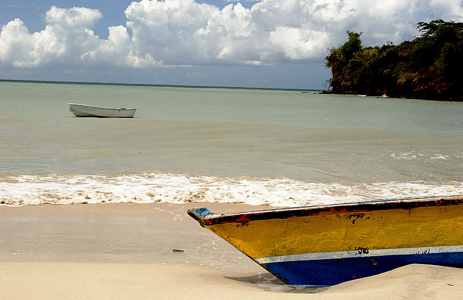Boat Photograph - Morne Rouge Boats by Jean Macaluso