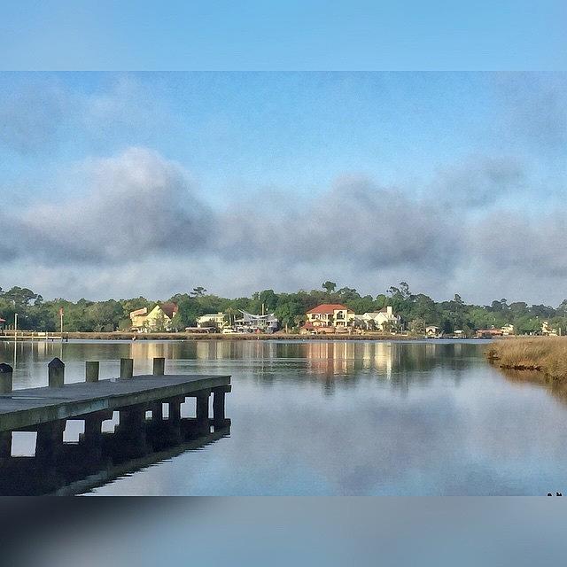 Reflection Photograph - Morning Along The Bayou #enlight by Joan McCool