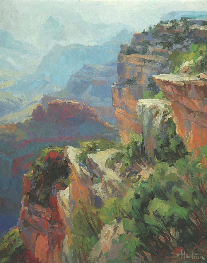 Southwest Painting - Morning at Hopi Point by Steve Henderson