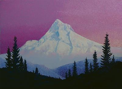 Mountains Painting - Morning At Mt Hood by Gordon Sage