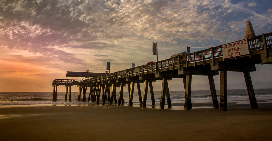 Morning At Tybee Island Pier Photograph