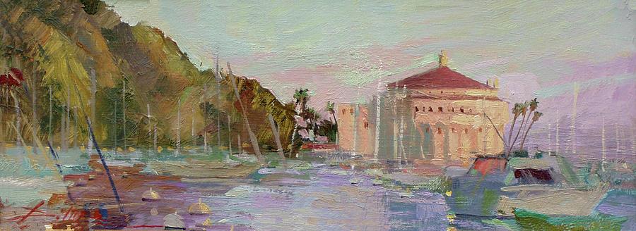 Morning Avalon Harbor - Catalina Island Painting by Betty Jean Billups