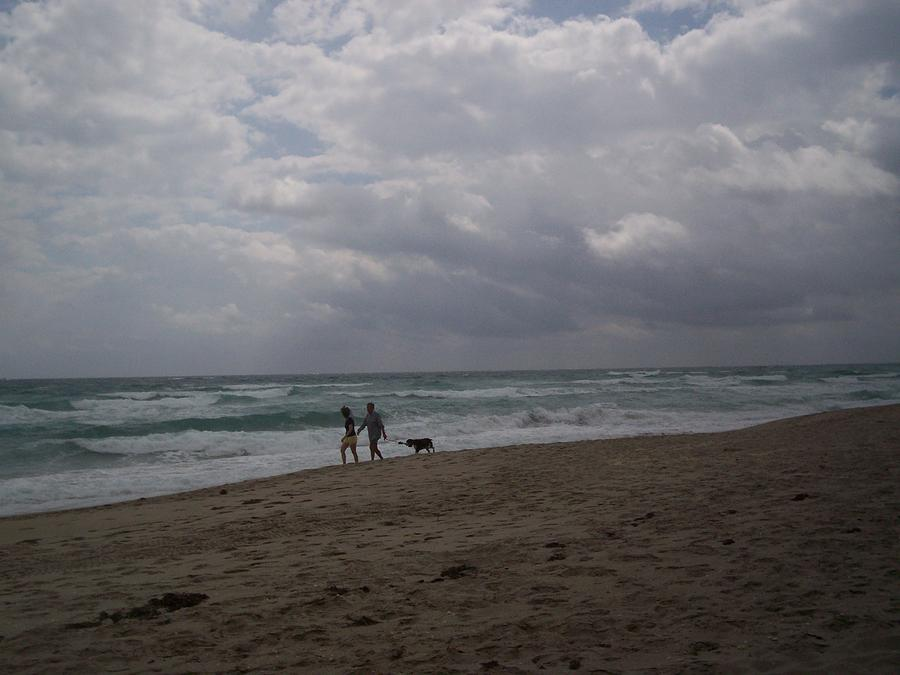 Morning Photograph - Morning Beach Walk by Karen Thompson