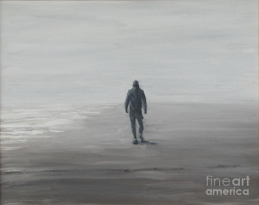 Iop Painting - Morning Beachwalker by Thomas Michael Meddaugh