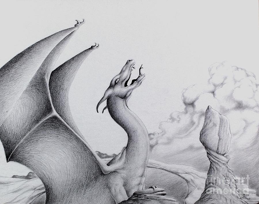 Dragon Digital Art - Morning Bellow by Robert Ball