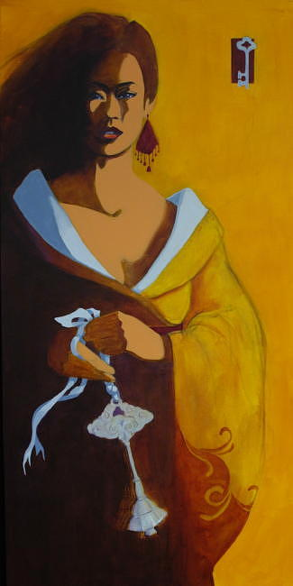 Asian Painting - Morning Chime by Sonja Donnelly