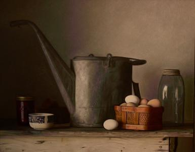 Still Life Painting - Morning Chores by Keith Murray