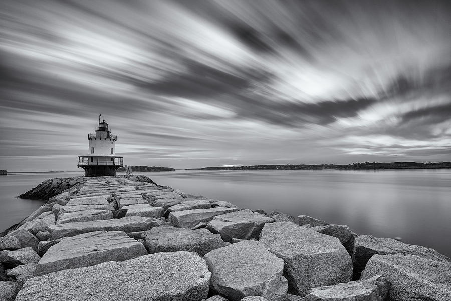 Morning Clouds at Spring Point Ledge by Jesse MacDonald