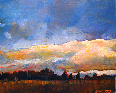 Landscape Painting - Morning Clouds over Sunrise Ridge by Jon Rader Jarvis