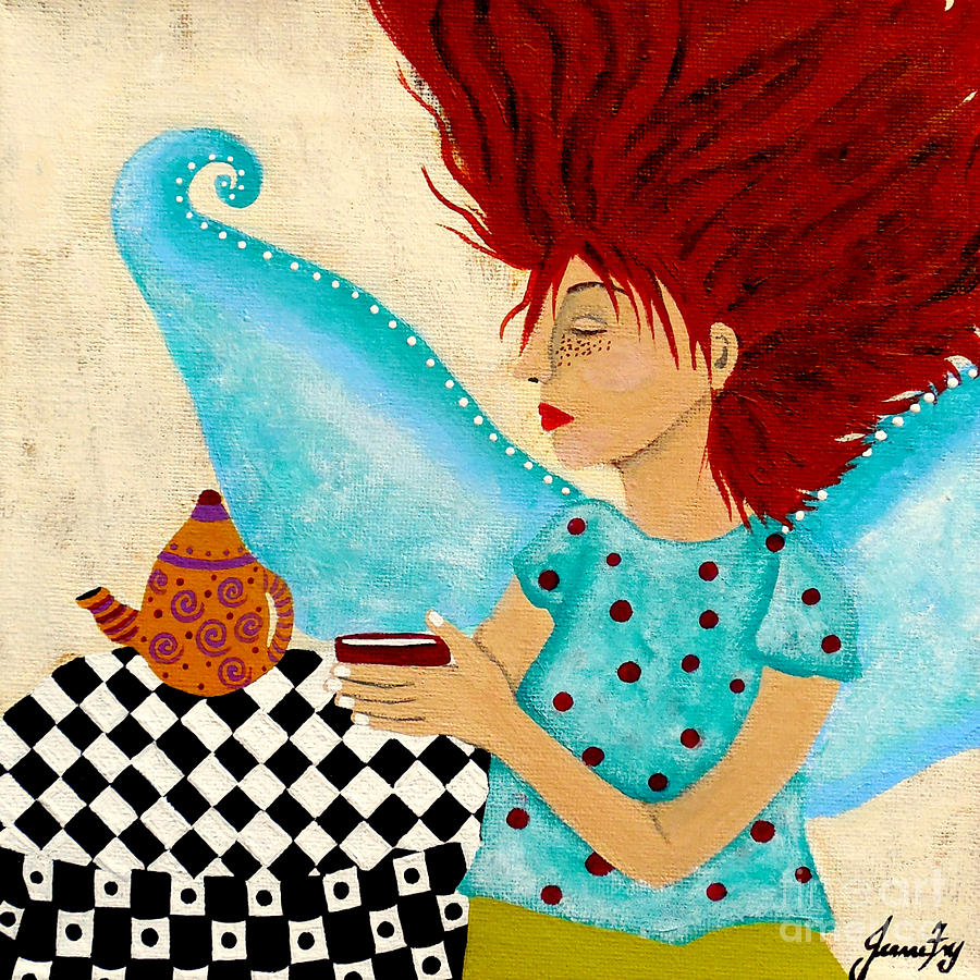 Morning Coffee and Fairy Freckles by Jean Fry