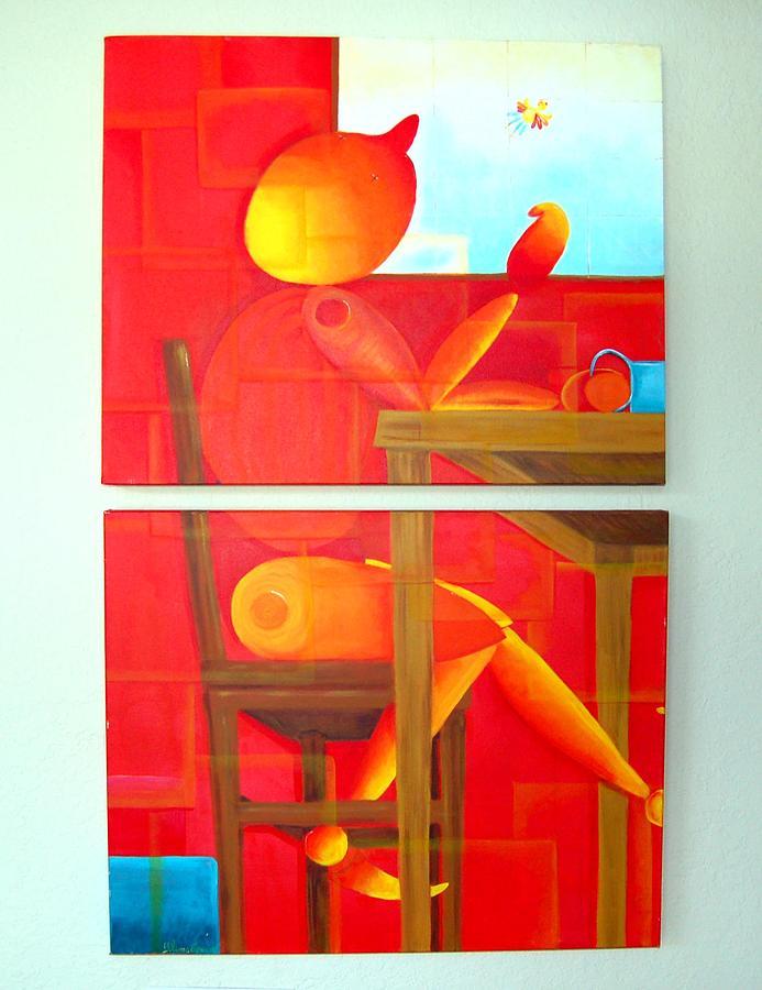 Fantasy Painting - Morning Coffee by Blima Efraim