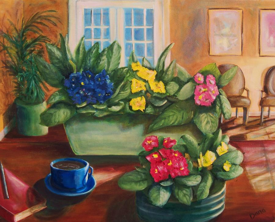 Coffee Painting - Morning Coffee by Dana Redfern