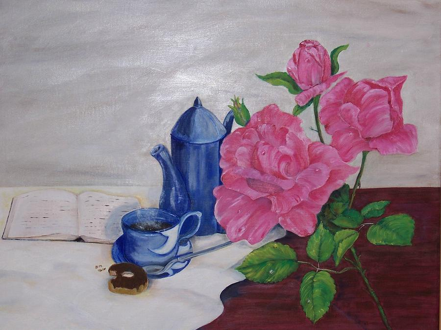 Still Life Painting - Morning Coffee by Penny Everhart