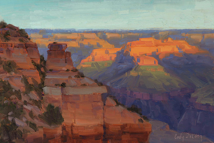 Cody Delong Painting - Morning Color - Yaki Point by Cody DeLong