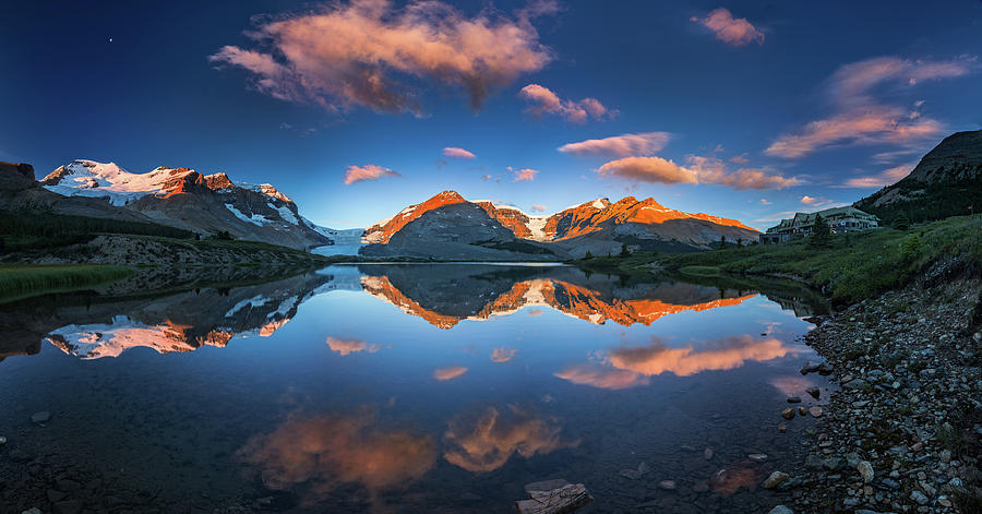 Athabasca Photograph - Morning Colors At Ice Field Center by William Freebilly photography