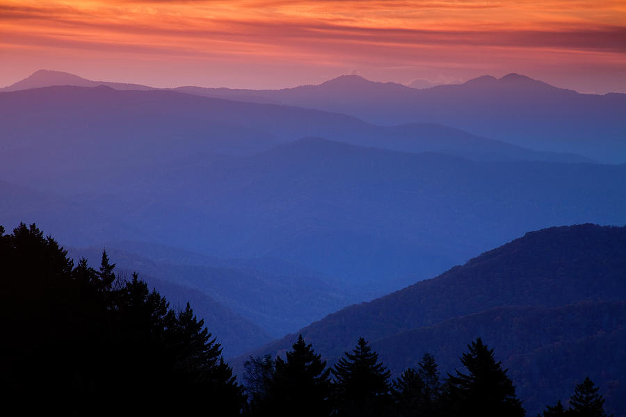 Smokies Photograph - Morning Colors In The Smokies by Andrew Soundarajan