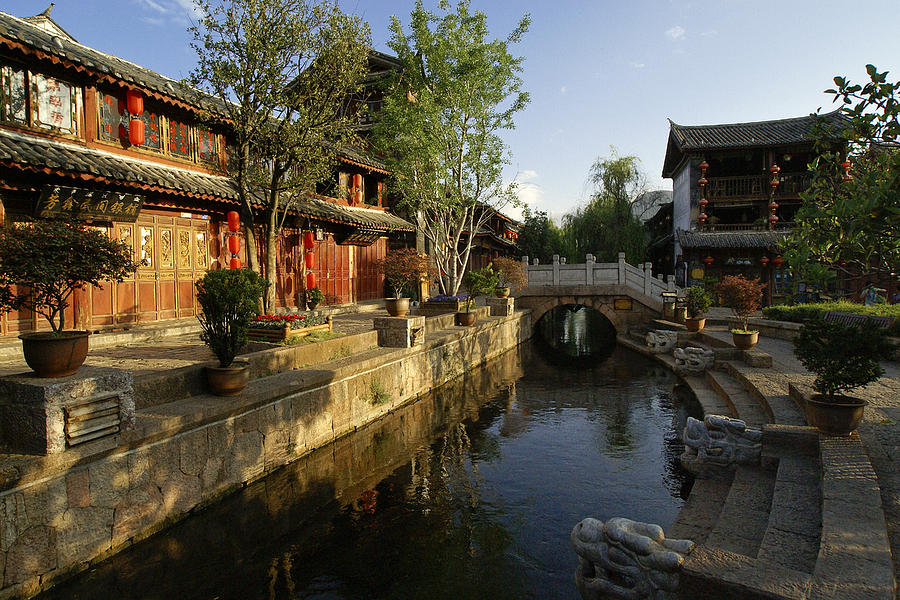 Asia Photograph - Morning Comes to Lijiang Ancient Town by Michele Burgess