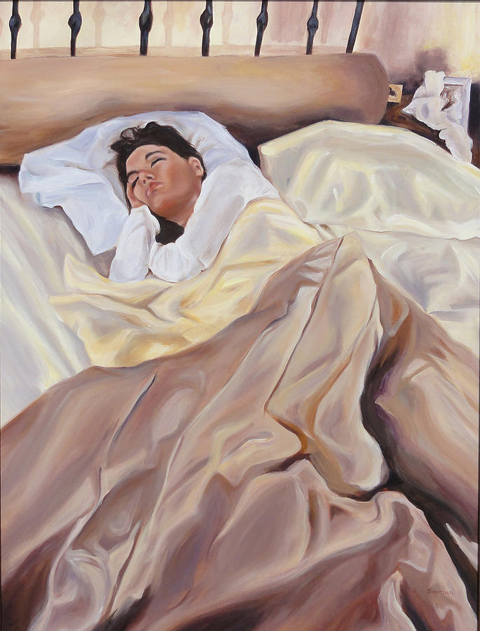 Sleeping Woman Painting - Morning by Denise H Cooperman