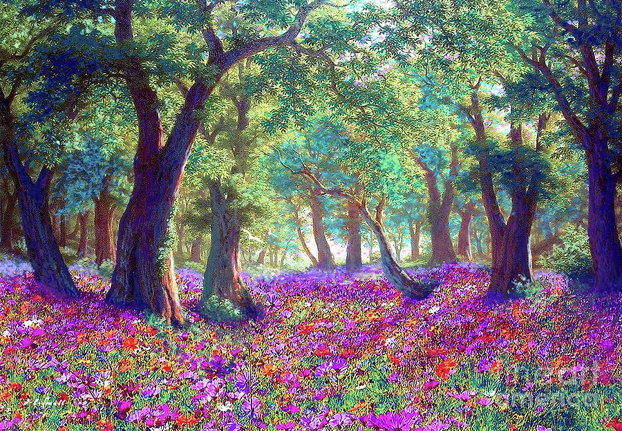 Wildflower Painting - Morning Dew by Jane Small
