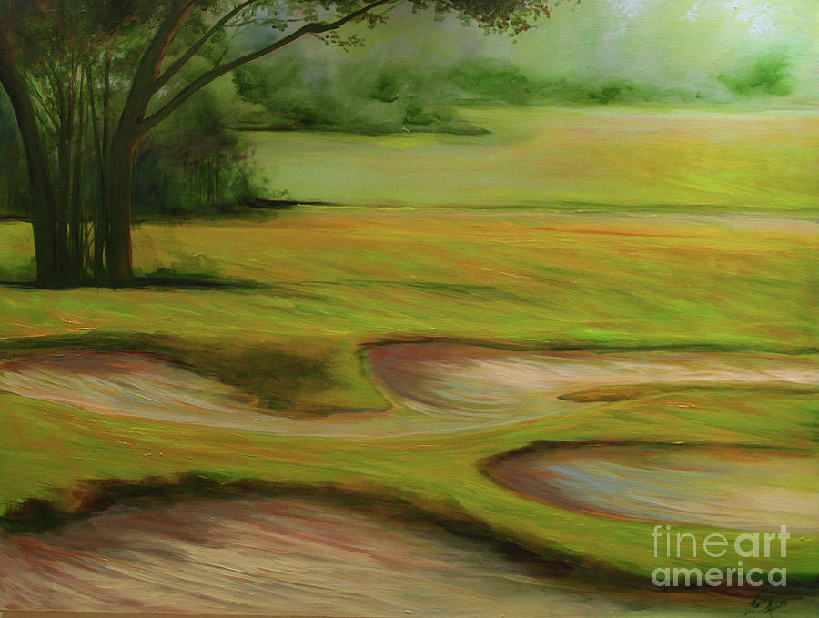 Golf Landscape Painting - Morning Fairway by Michele Hollister - for Nancy Asbell