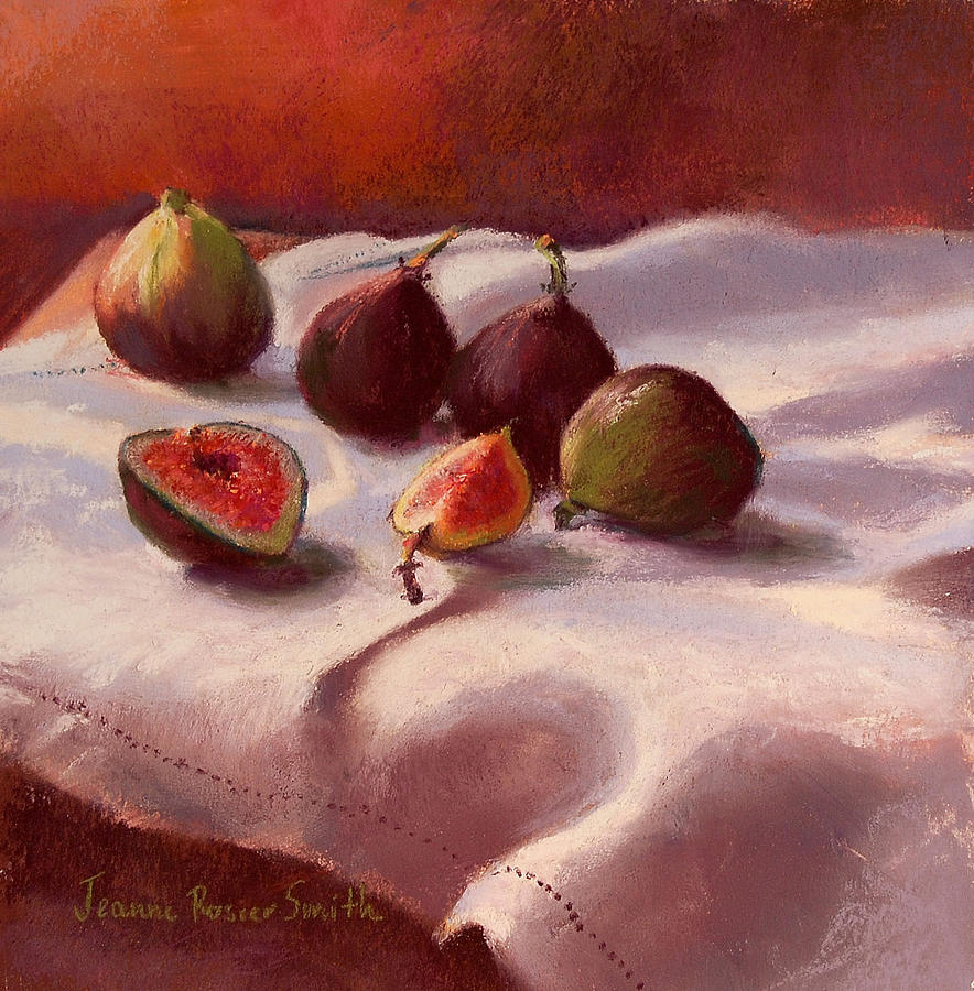 Food Pastel - Morning Figs by Jeanne Rosier Smith