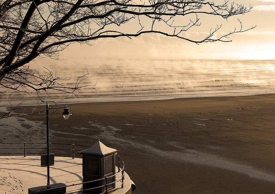 Blue Photograph - Morning Filey Beach by Svetlana Sewell