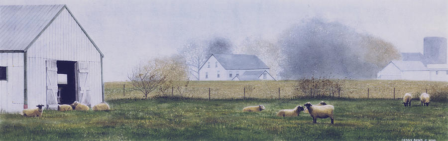 Watercolor Painting - Morning Fog by Denny Bond