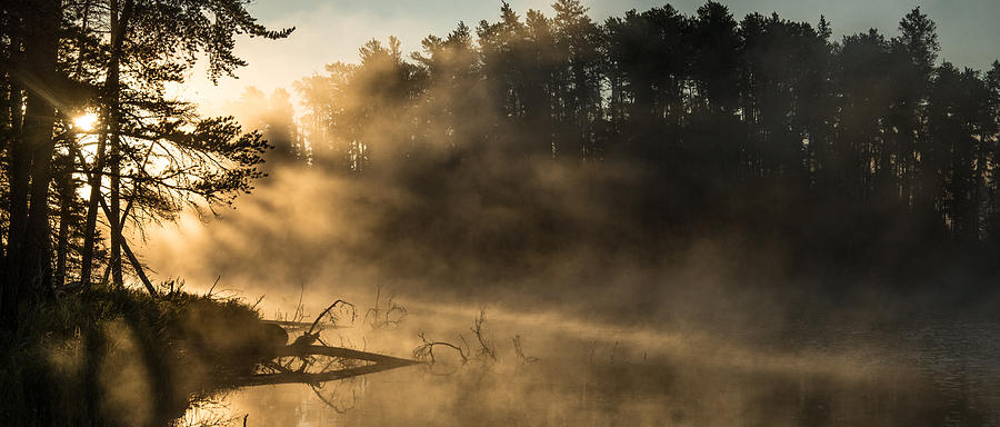 Boundary Waters Canoe Area Photograph - Morning Fog In The Boundary Waters by Christopher Broste