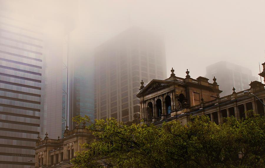 Treasury Photograph - Morning Fog Over The Treasury by Susan Vineyard