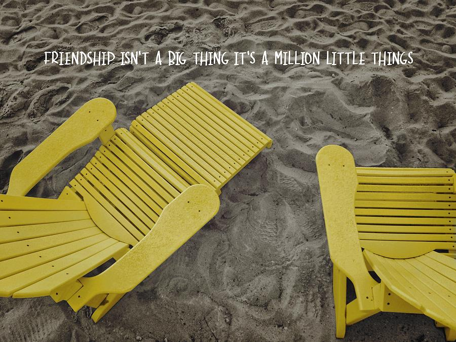 Yellow Photograph - Morning Footsteps Quote by JAMART Photography