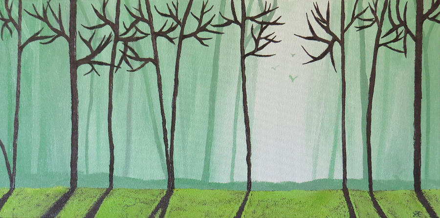 Morning Forest Painting