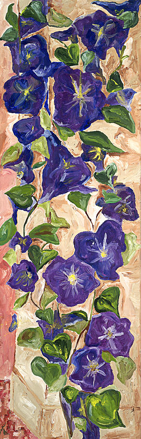Floral Painting - Morning Glory by Bernadette Robertson