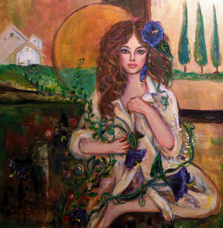 Women Painting - Morning Glory by Kimberly Van Rossum