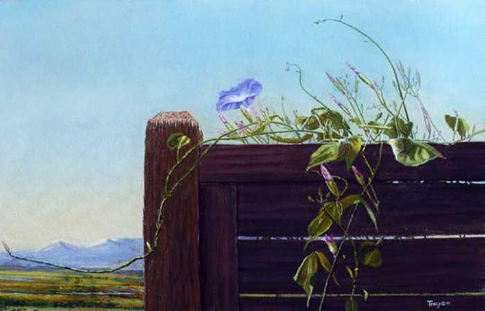Morning Glory Painting - Morning Glory by Robert Tracy