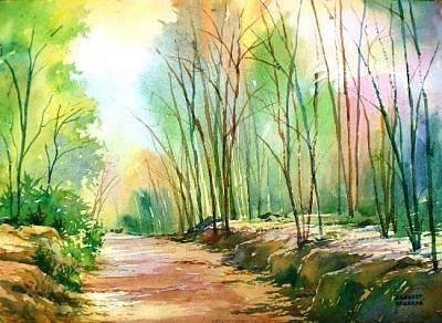 Landscape Painting - Morning Glory by Sandeep Khedkar