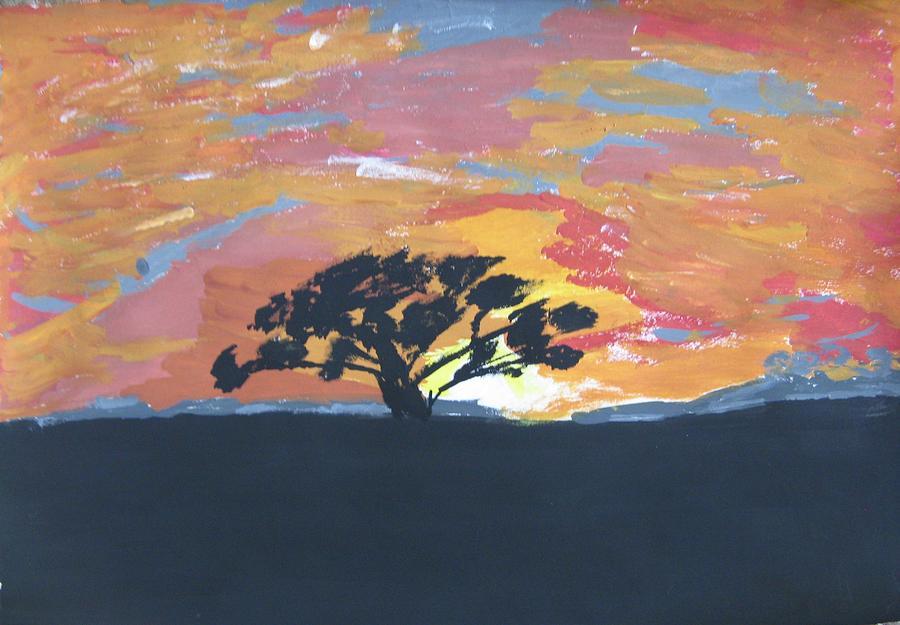 Landscape Painting - Morning Glory-sunrise by Preeti Sharma