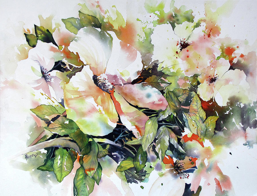 Watercolor Painting - Morning Glow 2 by Rae Andrews