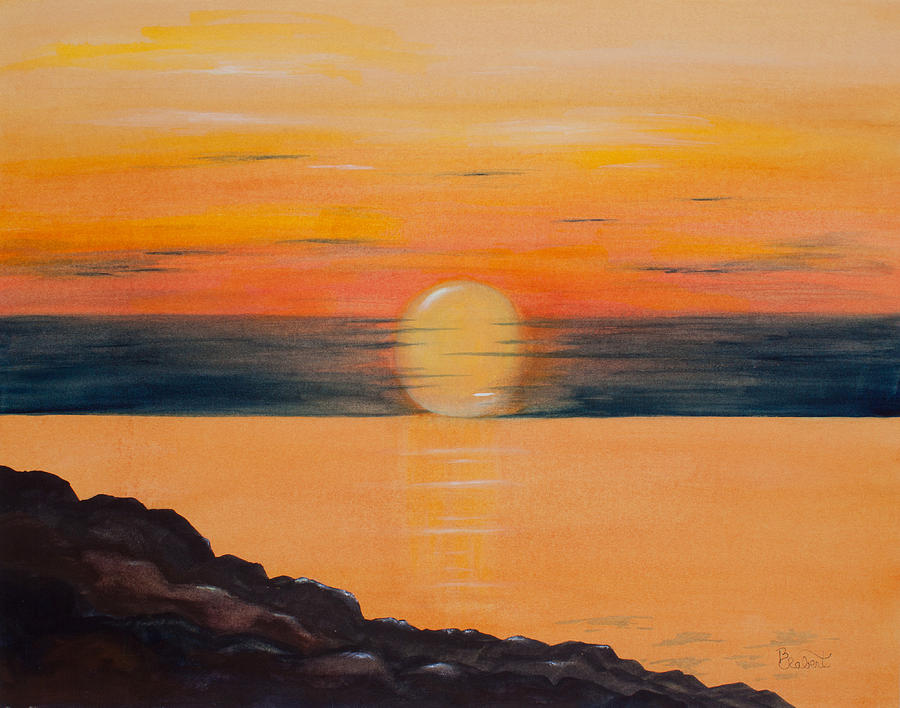 Watercolor Painting - Morning Glow by Bonnie Rabert