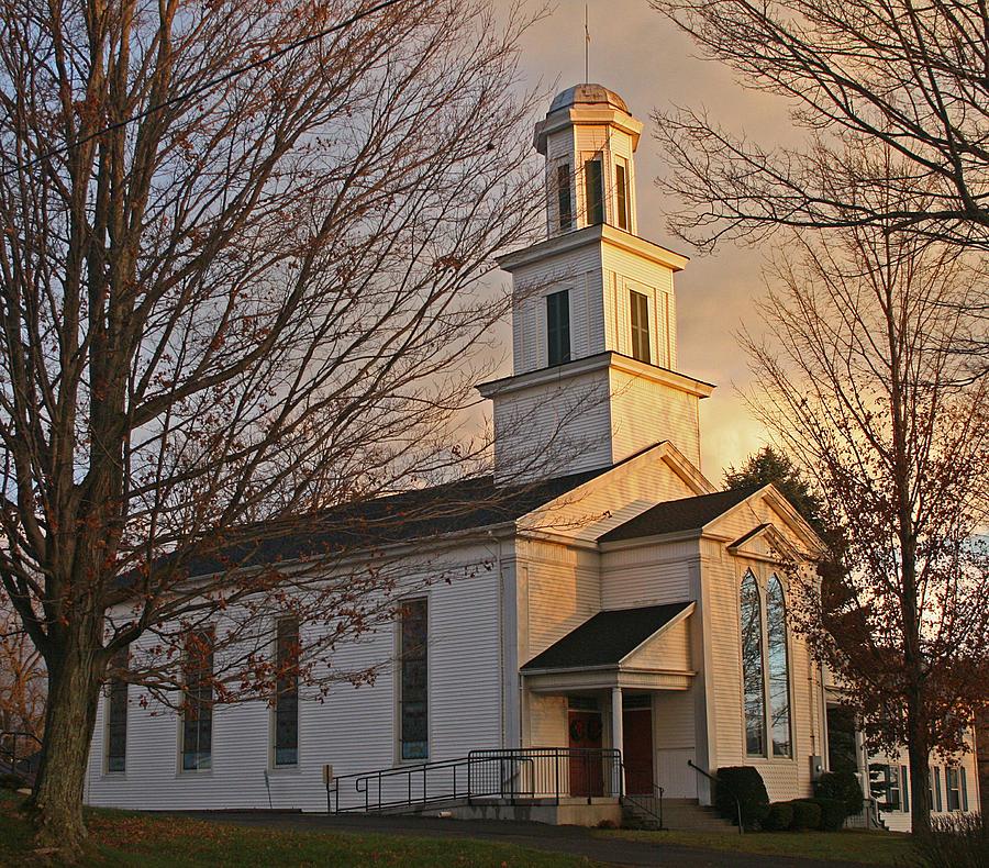 Church Photograph - Morning Glow by Frank Morales Jr