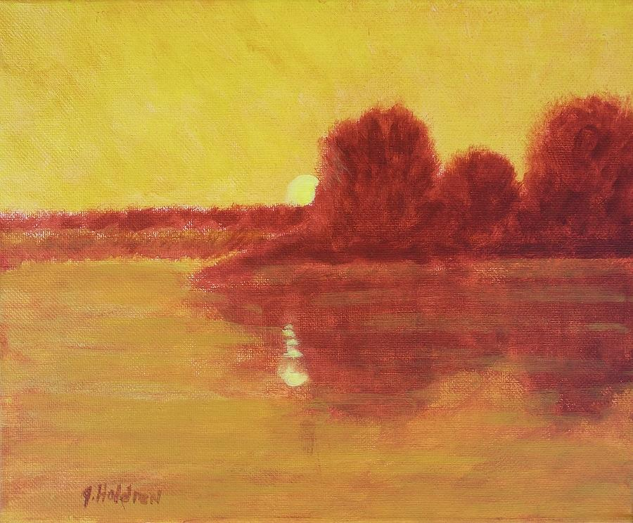 Trees Painting - Morning Glow by Justin Holdren