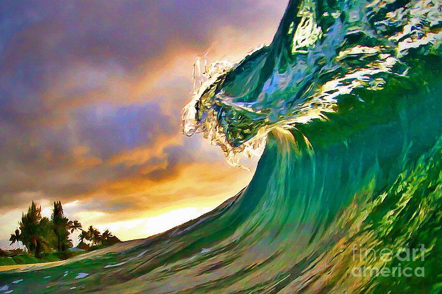 Ocean Painting - Morning Glow by Paul Topp